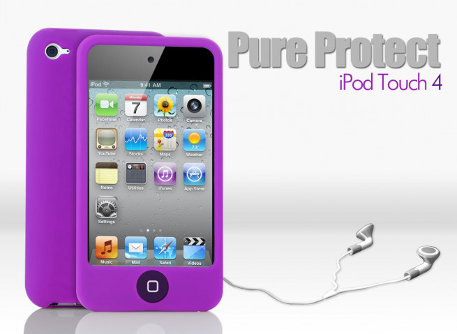 Coque iPod Touch 4 violet