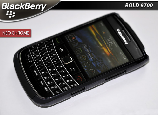 "Coque Blackberry Bold 9700 ""Neo Chrome"" Dark Purple"