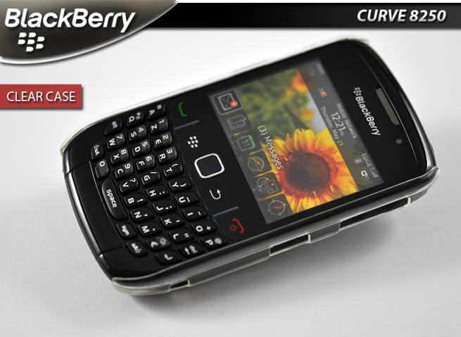 Coque pour blackberry curve 8520 - clear case translucide