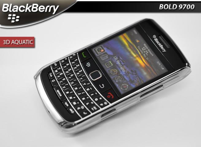 "Coque Blackberry Bold 9700 ""3D Aquatic"" (effet holographique)"