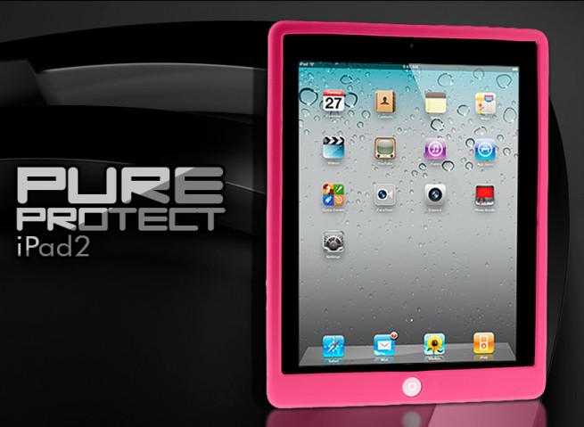Coque iPad 2 rose