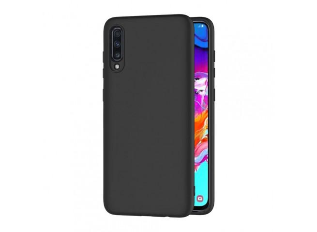 Coque Samsung Galaxy A70 Black Matte Flex