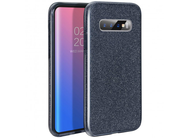 Coque Samsung Galaxy S10 Glitter Protect-Noir