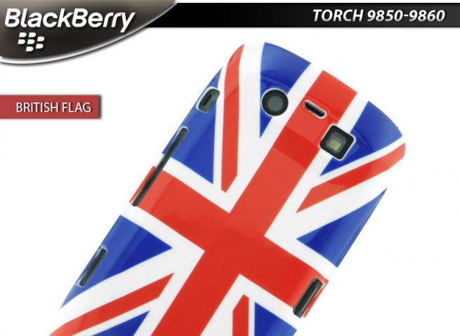 Coque BlackBerry Torch 9860 British Flag