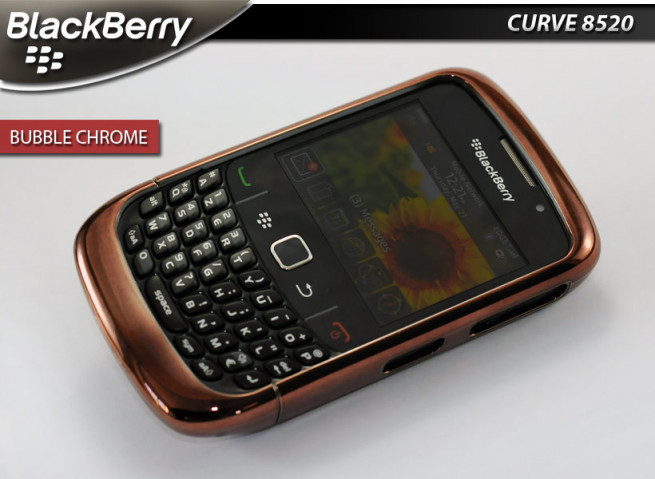 "Coque BlackBerry Curve 8520 ""Bubble Chrome""-Cuivre"