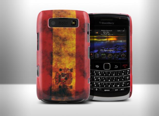 Coque BlackBerry Torch 9700/9780 Drapeau Grunge - Espagne
