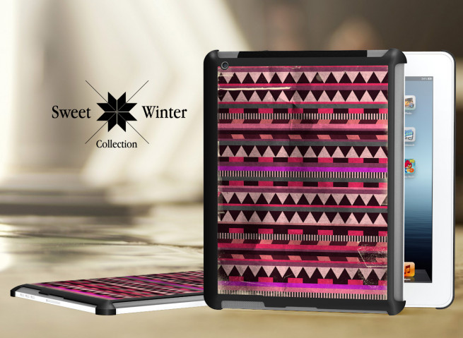 Coque iPad Retina/iPad 2 Black Collection Sweet Winter