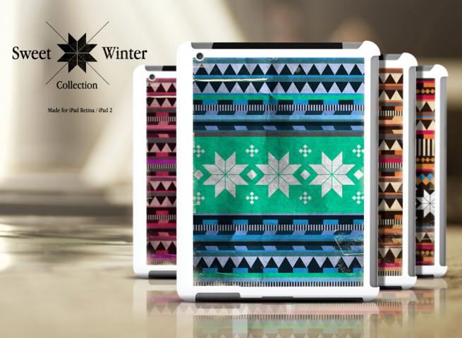 Coque iPad Retina/iPad 2 White Collection Sweet Winter