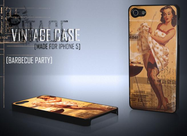 Coque iPhone 5 Vintage Case - Barbecue Party