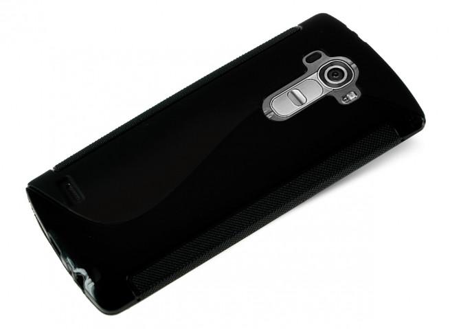 Coque LG G4 Silicone Grip-Noir