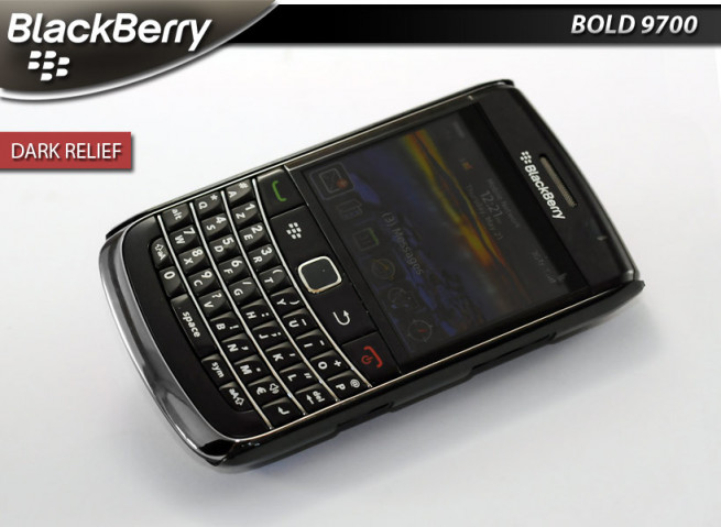 "Coque BlackBerry Bold 9700 ""Dark Relief""-Rose"