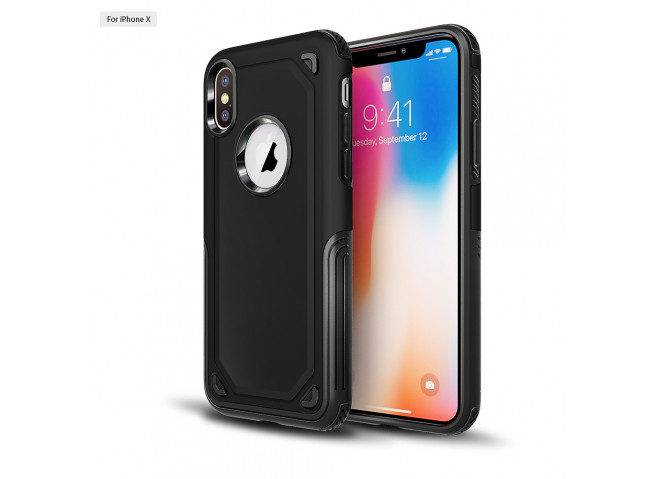Coque iPhone XR No Shock Case-Noir