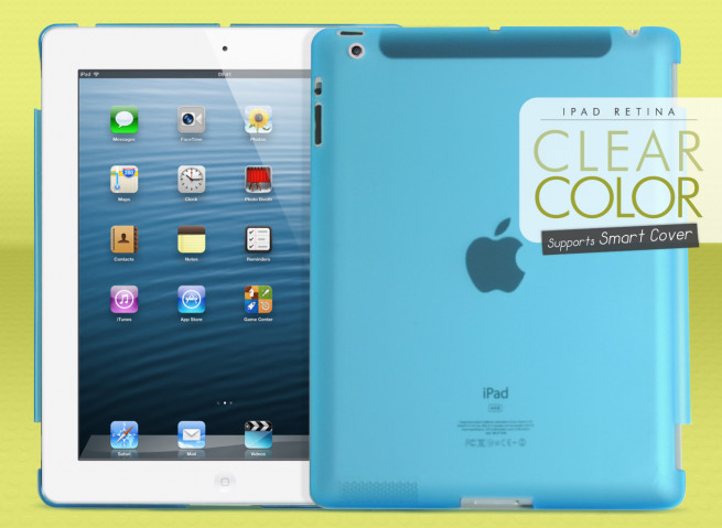 Coque iPad Retina Clear Color