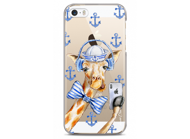 Coque iPhone 5C Watercolor Marine Giraffe