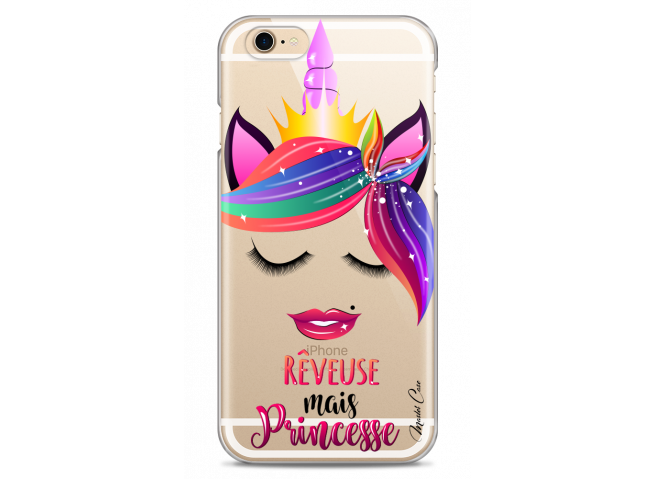 Coque iPhone 6Plus/6SPlus Rêveuse mais Princesse