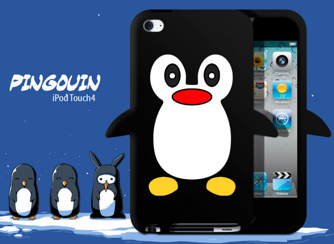 Coque iPod Touch 4 Pingouin