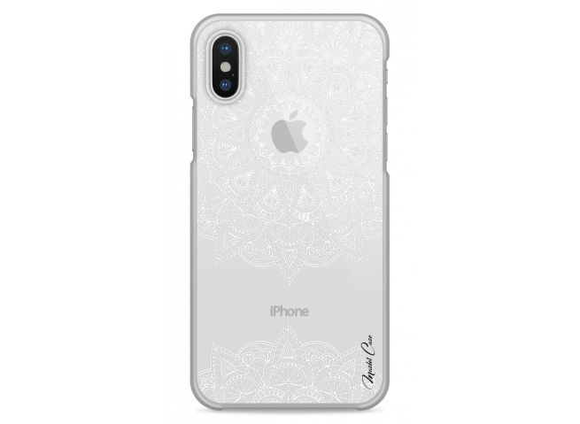 Coque iPhone XR White Mandala design