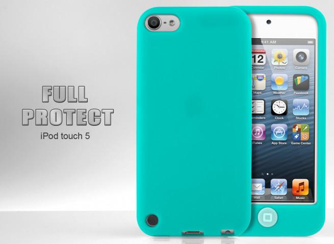 Coque iPod Touch 5 bleu