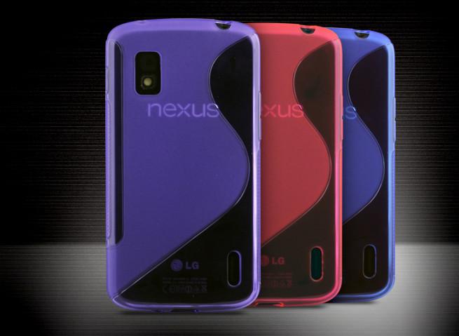 Coque Galaxy Nexus 4 Silicone Grip Translucide