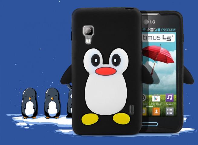Coque LG Optimus L5-2 Pingouin