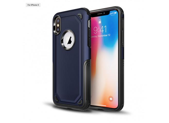 Coque iPhone XS Max No Shock Case-Bleu