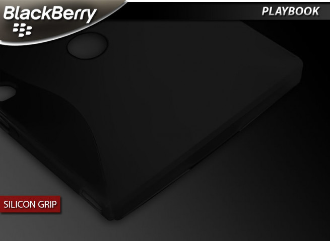 "Coque BlackBerry PlayBook ""Silicon Grip""-Noir"