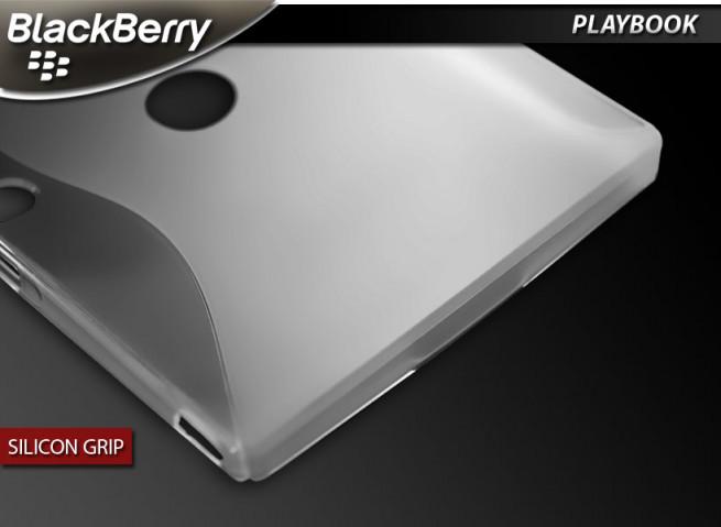 "Coque BlackBerry PlayBook ""Silicon Grip""-Blanc translucide"