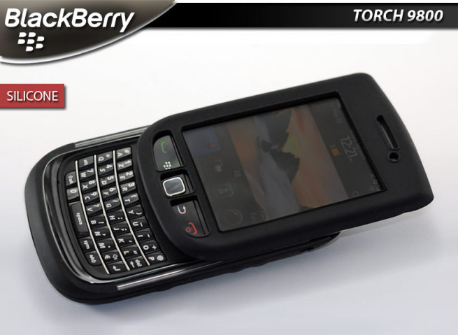 "Coque BlackBerry Torch 9800 ""Silicone""-Noir"