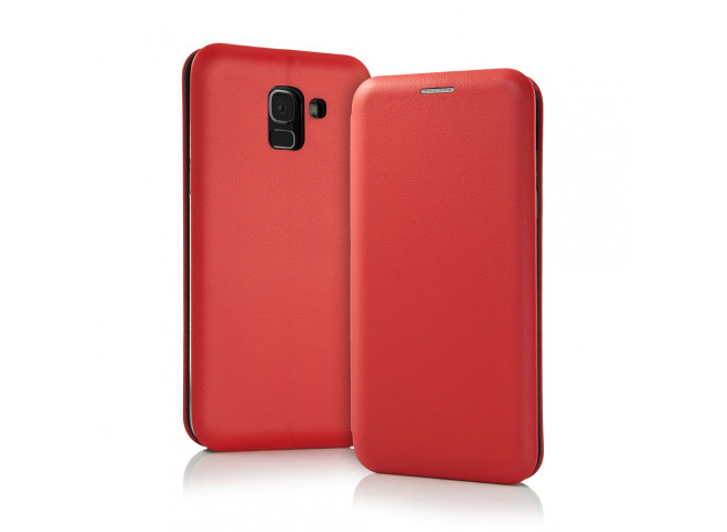 Etui Samsung Galaxy A6 2018 Flip Metalic-Rouge