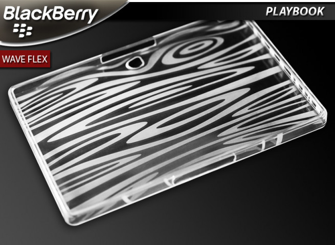"Coque BlackBerry PlayBook ""Wave Flex""-Blanc translucide"