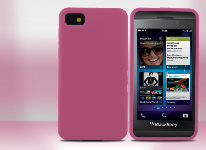 Coque Blackberry Z10 Silicone Colors