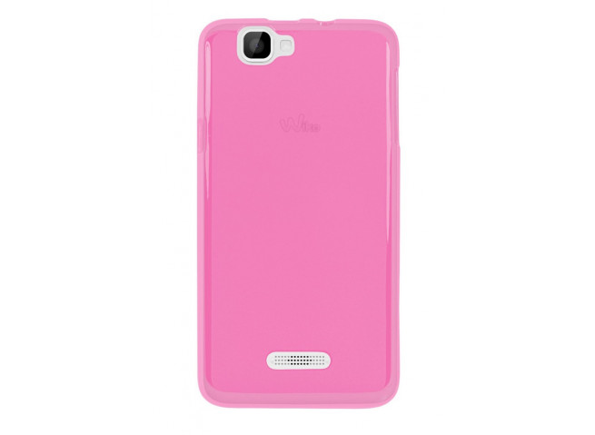 Coque Wiko Rainbow Silicone Case Rose by Moxie