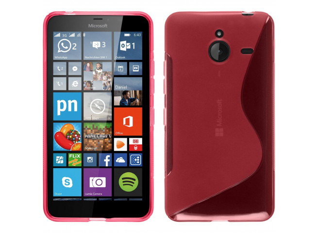 Coque Microsoft Lumia 640 XL Silicone Grip-Rose