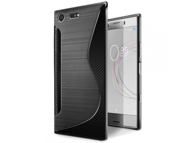 Coque Sony Xperia XZ1 Compact Silicone Grip-Noir
