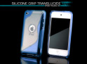Coque iPod Touch 4 bleu