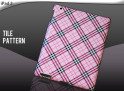 "Coque iPad 2 ""Tile Pattern""-rose"