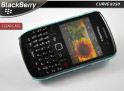 Coque pour blackberry curve 8520 - clear case bleu translucide