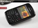 Coque pour blackberry curve 8520 - clear case noir translucide