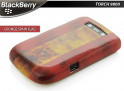 Coque BlackBerry Torch 9800 Drapeau Grunge - Espagne