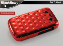 "Coque BlackBerry Bold 9700 ""Bubble Chrome""-Rouge"