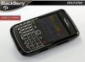 "Coque BlackBerry Bold 9700 ""Bubble Chrome""-Noir"