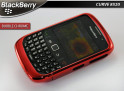"Coque BlackBerry Curve 8520 ""Bubble Chrome""-Rouge"