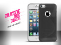 Coque iPhone 5 Silicone noir