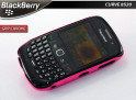 "Coque BlackBerry Curve 8520 ""Grip Chrome""-Rose"
