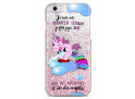 Coque iPhone 6/6S Pink glitter Princesse Licorne