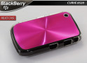 "Coque BlackBerry Curve 8520 ""Relief Case""-Rose"