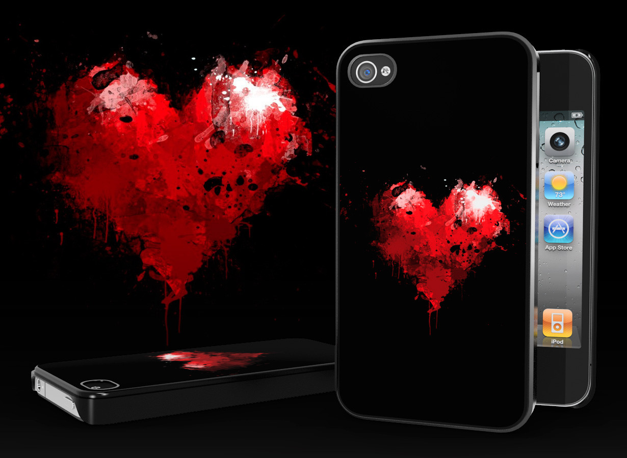 coque iphone 4 4s bloody heart. Black Bedroom Furniture Sets. Home Design Ideas