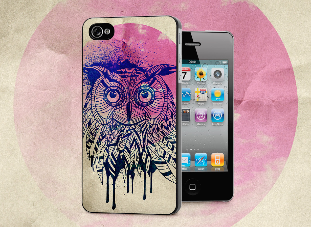 coque iphone 4 4s owl face. Black Bedroom Furniture Sets. Home Design Ideas