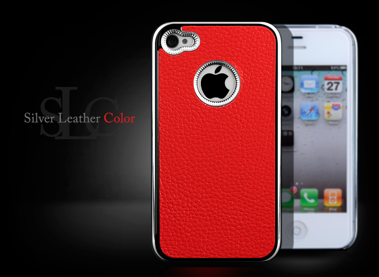 coque iphone 4 4s silver leather color. Black Bedroom Furniture Sets. Home Design Ideas