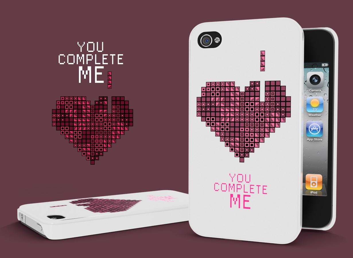 coque iphone 4 4s you complete me sp ciale saint valentin. Black Bedroom Furniture Sets. Home Design Ideas
